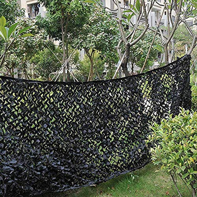 Camo Sunscreen Mesh,Camouflage Net Blinds Shade Netting Awning Cover Tent,for Camping Shooting Hunting Child Outdoor Activity Animals Photography Military Army Decoration Beach Fishing Feet ft Black