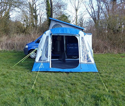 OLPro Unisex's Loopo Breeze Inflatable Camper Van Awnings, Blue/Grey, 310 x 370 x 215 cm