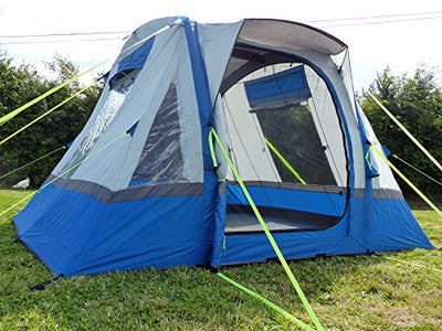 Olpro Waterproof Cubo Breeze  Outdoor Inflatable Campervan Awning available in Blue/Grey - Size 240 cm