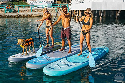 PEAK Paddle Boards Inflatable 10'6 Stand Up Paddle Board Complete Package Blue - 2018