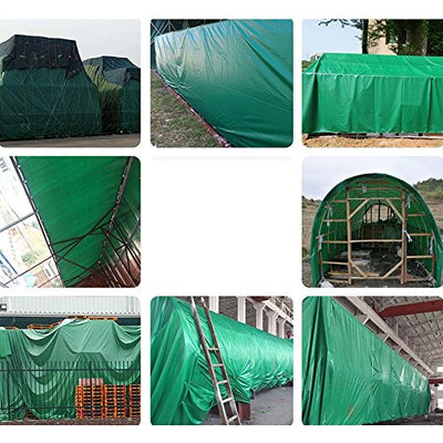 Linana Tarpaulin Double-sided Waterproof Sunscreen Outdoor Activities Garden Field Coverage (Color : GREEN, Size : 8 * 6M)