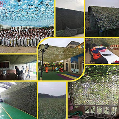 QIANGDA Camouflage Netting Gray Hunting Accessories Blinds Camo Netting For Fishing Shelter Camping Hide Multicolor Sunscreen Nets (Size : 15x15m)