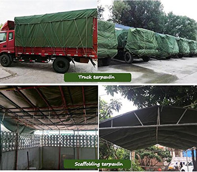 LICCC Tarpaulin Thick Canvas Tarpaulin/Waterproof Sunscreen Tarpaulin/Truck Car Tarpaulin/Waterproof Tarpaulin Shade Cloth/Outdoor Hot Knife Cloth / 600g / Square Meter, 0.85mm