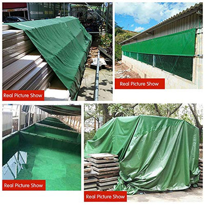 Outdoor Tarpaulin Double-sided Waterproof - Heavy Duty Sunshade Rain Sunscreen Windproof - Truck Cover Cargo Cloth - Aluminum Zinc Buttonhole,6X7M