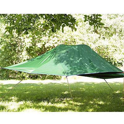 IF.HLMF Four corners Hanging Tree Tent Lightweight Backpacking 2 Person Tree Tent Four corners Double Hammock Suitable for parks, beaches, camping