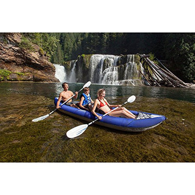 Aquaglide Chinook XP inflatable kayak, 3 person package, Tandem XL