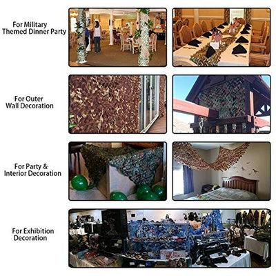 QIANGDA Ocean Camouflage Net Oxford Fabric Great For Sunshade Tent Mountain Decoration Net, Multi Sizes (Size : 15x15m)