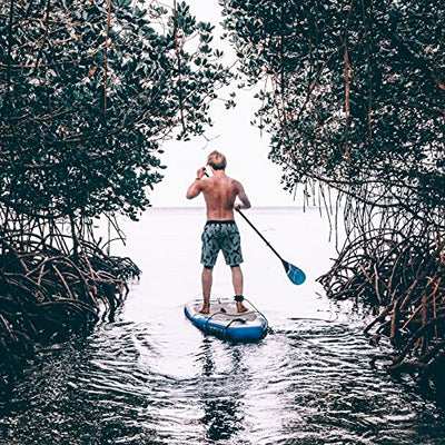 "Bluefin VOYAGE SUP Package | 10'10 Stand Up Inflatable Paddle Board | Integrated Stabilizers | Extra Wide Deck | 6"" Thick 