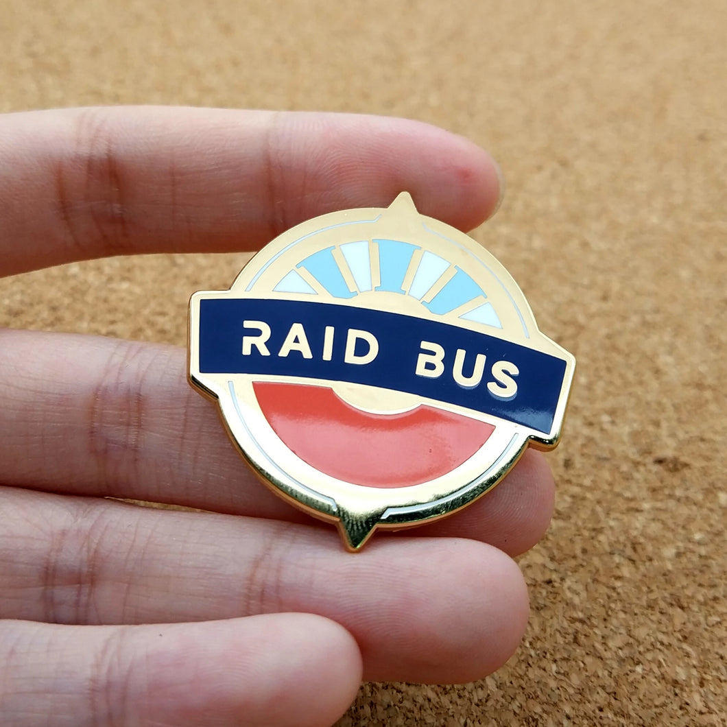 Raid Bus 1st Edition Pin