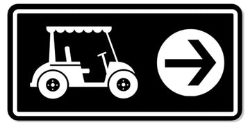 Cart Directional Sign 3