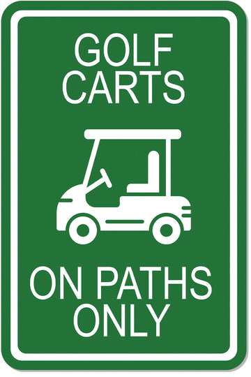 Golf Carts on Path Only Sign