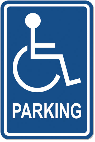 ISA Symbol Parking Sign