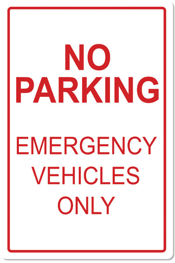 Emergency Parking Sign 2