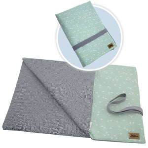 Wickelunterlage Square Grau Mint