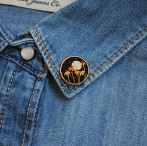 Flowers At Night Pin