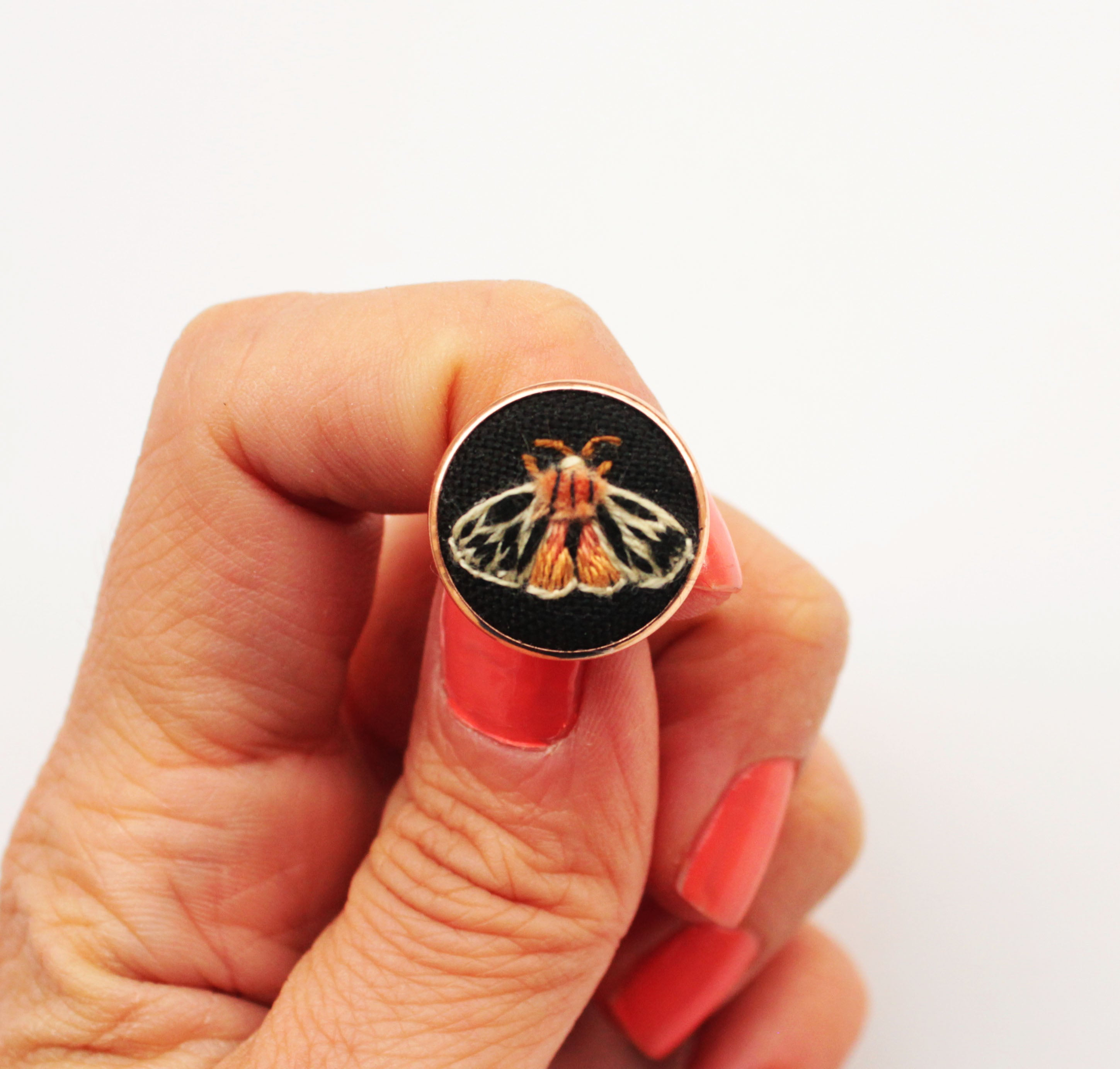 Tiger Moth Pin