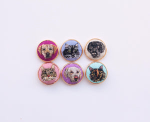 Custom Pet Portrait Pin