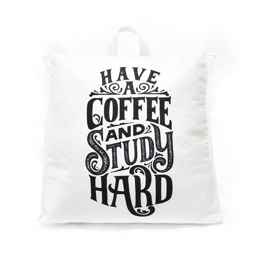 Have A Coffee And Study Hard 17 - Gối Tam Giác Tựa Lưng