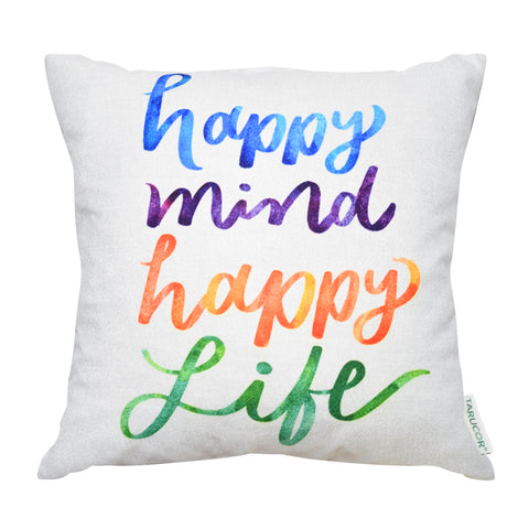 Happy Mind Happy Life -  Gối Tựa Lưng Sofa 45x45 cm