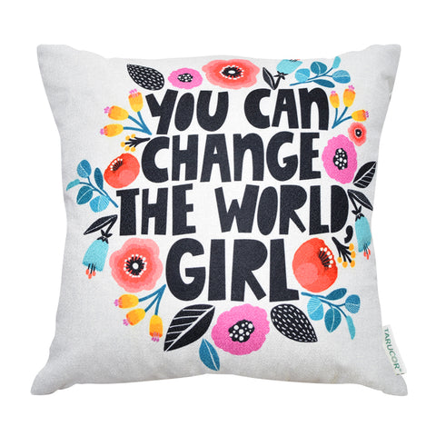 You Can Change The World, Girl -  Gối Tựa Lưng Sofa 45x45 cm