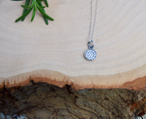 PAVE DISK | STERLING SILVER