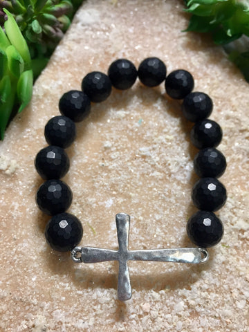 NOIR | SILVER SIDE CROSS
