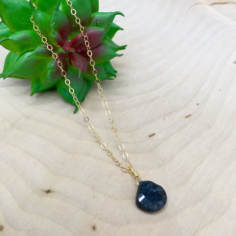 LABRADORITE DROP | 14K GOLD FILLED