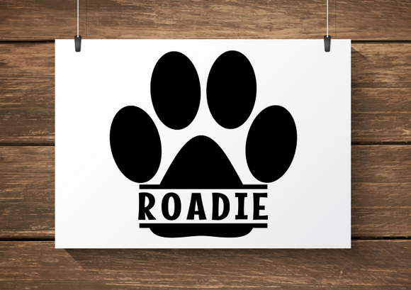 Paw Print Custom Name Decal