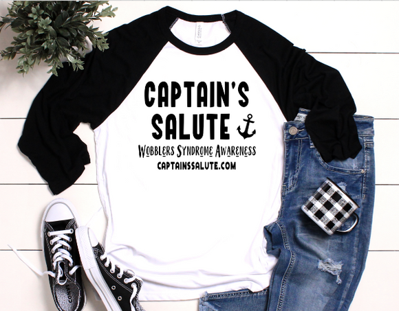 Captain's Salute Wobblers Syndrome Awareness Raglan
