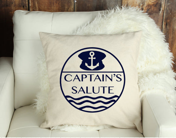 Navy Captain's Salute Decorative Pillow