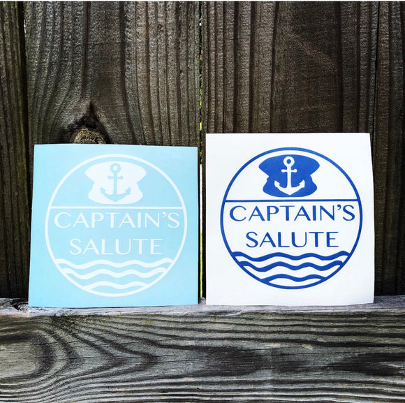 Custom Logo Captain Salute Car Decals