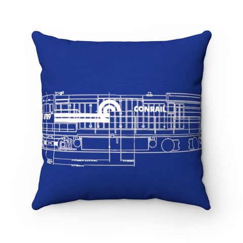 Blue Conrail Engine Pillow