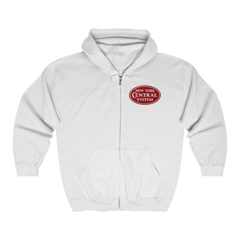 New York Central System Roomy  Zip-Up Sweatshirt