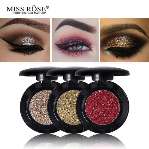 Miss Rose Diamond Glitter Eyeshadow 24 Colors Single Palette Illuminator Makeup Shimmer Metal Eye Shadow Shine Pigment Cosmetics