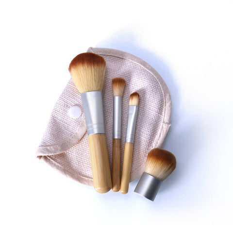 O.TWO.O 4PCS/LOT Bamboo Brush Foundation Brush Make-up Brushes Cosmetic Face Powder Brush For Makeup Beauty Tool
