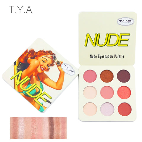 TYA 2018 Matte Eyeshadow Palette Nude Minerals Professional Eye Shadow Powder Pigment Cosmetic Waterproof Matte Makeup Eyeshadow