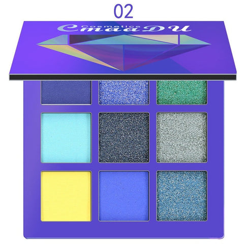 New Cosmetic Fashion Matte Eye shadow Cream Makeup Party Palette Shimmer Set 9 Colors Eyeshadow 2018
