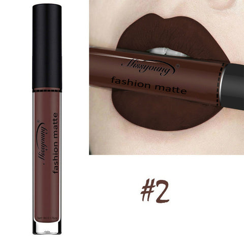 New Brand Makeup Lipstick Matte Lipstick Brown Nude Chocolate Color Liquid Lipstick Lip Gloss Matte Batom