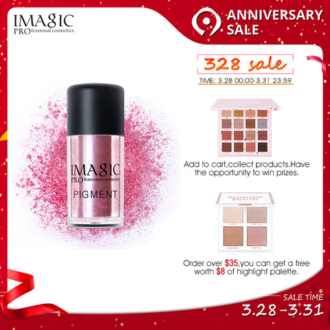IMAGIC New Arrival Glitter Eyeshadow Metallic Loose Powder Waterproof Shimmer Pigments Colors Eye Shadow Makeup Cosmetics