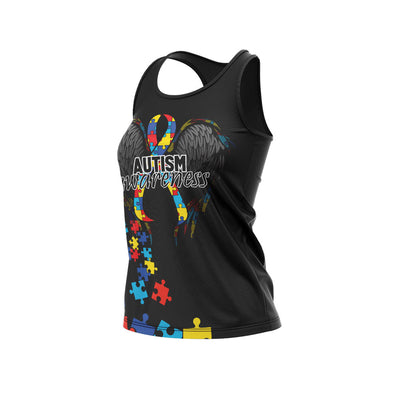 Autism Full Dye Racerback Riot Jersey