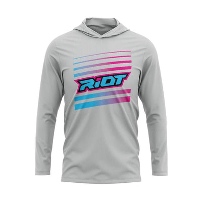 Pink/Blue Riot Striped Logo