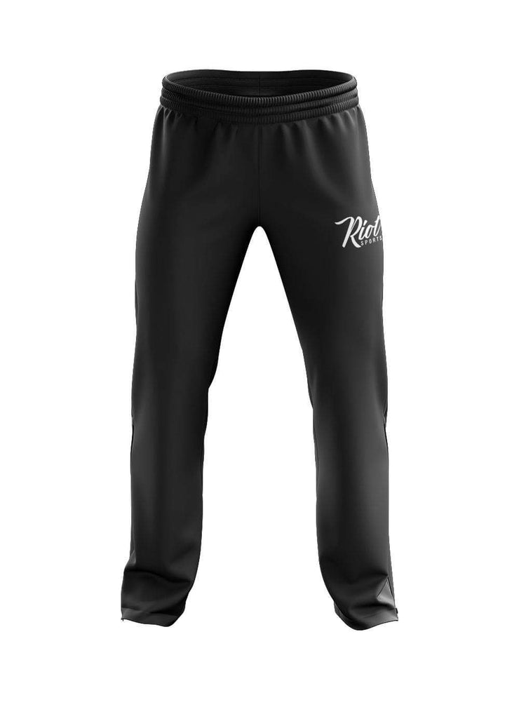 Black heather fleece sweatpants