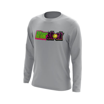 Grey Long Sleeve Shirt with Aftershock 9U Logo