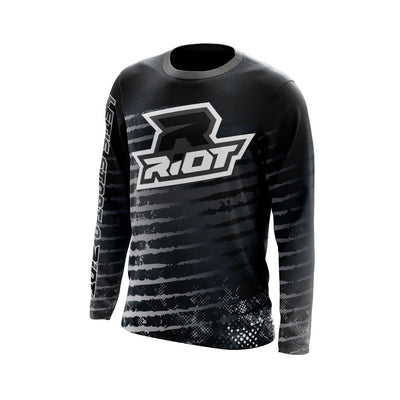 Multi-Color Black Charcoal White Full Dye Long Sleeve Riot Jersey