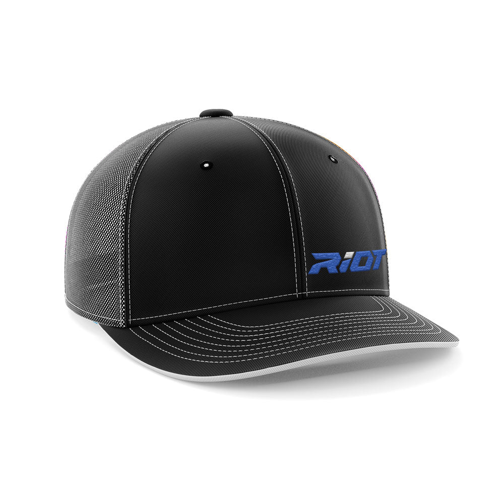 eab62ea6f32 Black Black Hat (404M) with Royal Blue Riot Logo – Riot Sports Gear