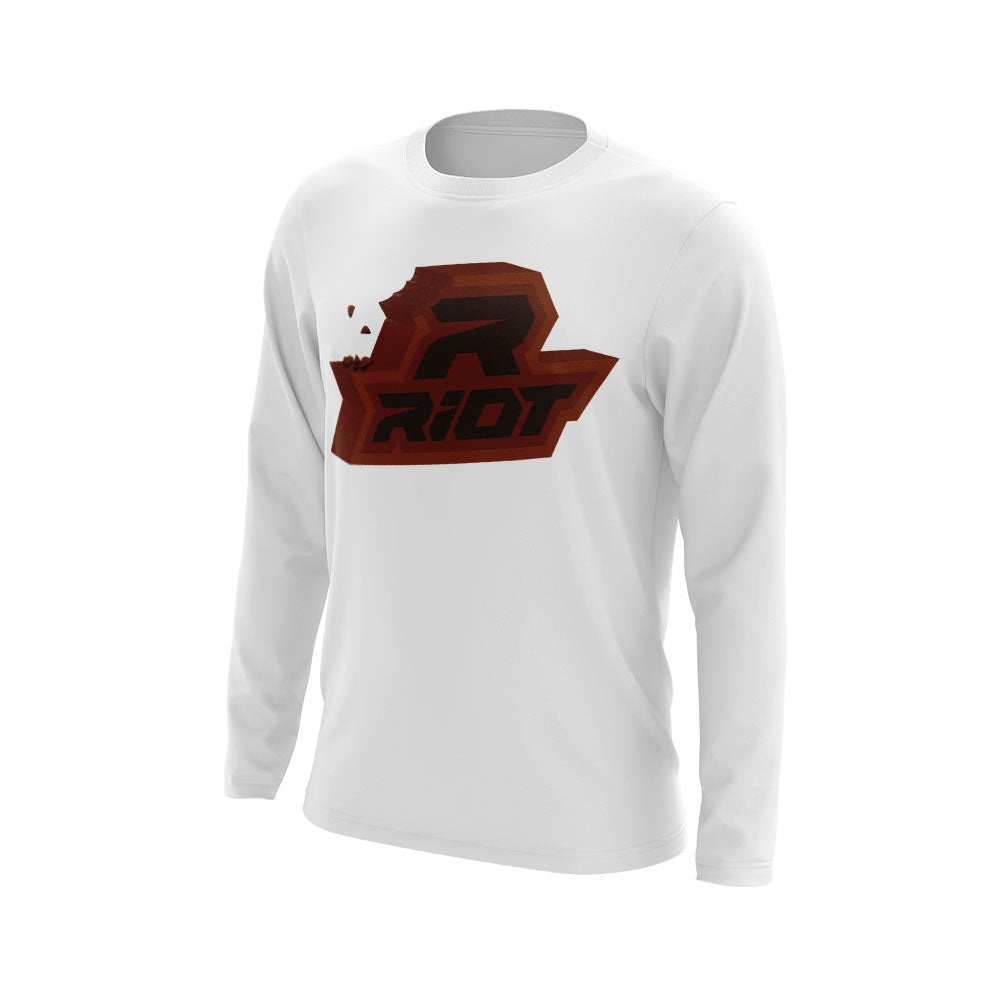 **NEW** White Shirt with Chocolate Riot Logo - Choose your shirt type