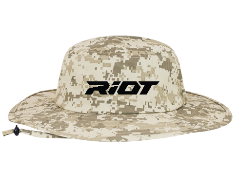 Desert Camo Bucket Hat (1946) with Black Riot Logo – Riot Sports Gear e06f37255