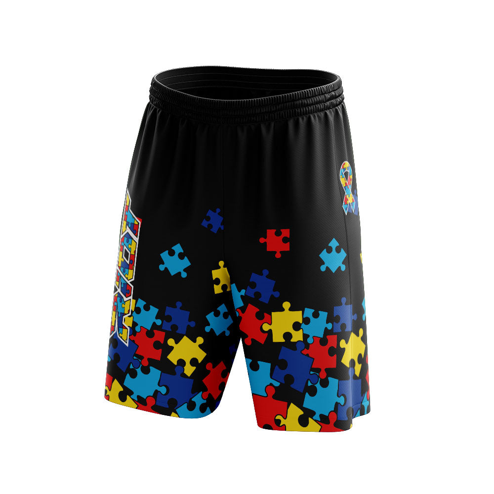 Autism Full Dye Riot Shorts