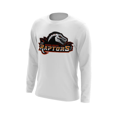 Hudson Valley Raptor Mascot Long Sleeve White Semi Dye