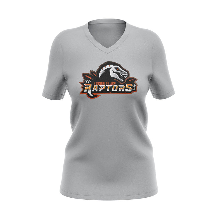 Hudson Valley Raptor Mascot Grey V-Neck Semi Dye